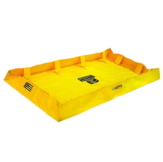 Piletas para contención de derrames Justrite 28564 QuickBerm® Lite - 1,22 x 2,44 x 0,20 mts - 602 litros