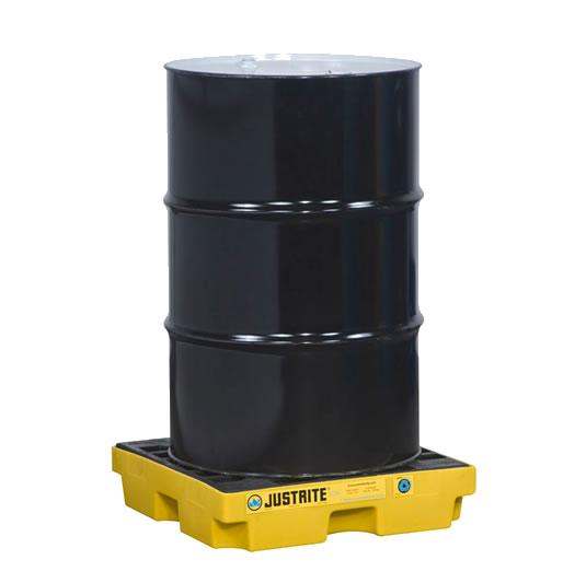 Centros de acumulación Justrite 28652 (ex 28940) EcoPolyBlend™ para 1 tambor - Color amarillo