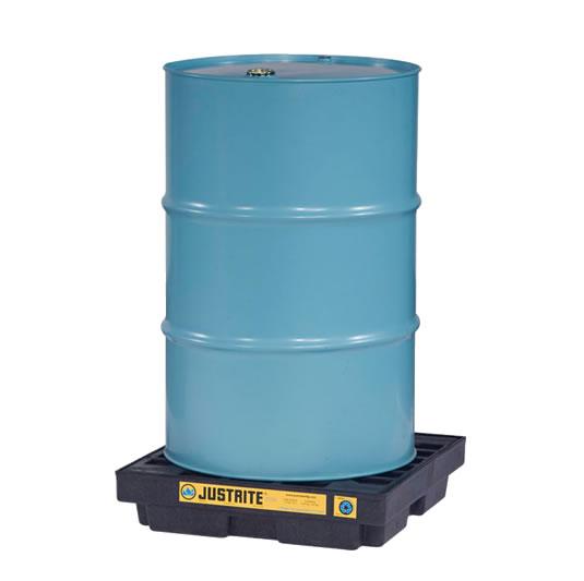 Centros de acumulación Justrite 28653 (Ex 28940) EcoPolyBlend™ para 1 tambor - Color negro