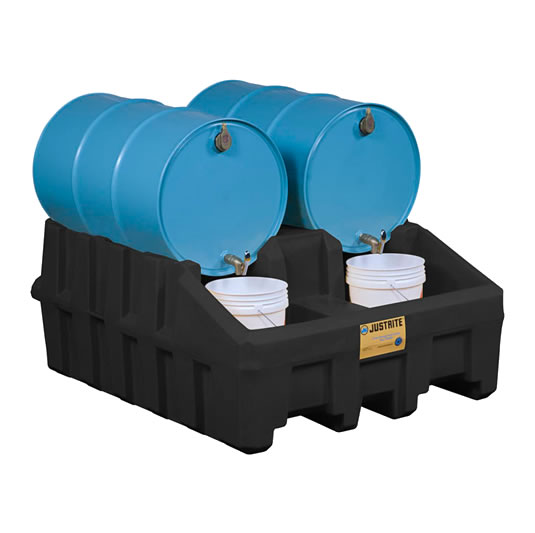 Módulos apiladores para sistema de gestión de tambores - Color Negro - Justrite 28667 (Ex AK28902/AK28902Y) EcoPolyBlend™